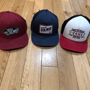 3x Vans Hats bundle
